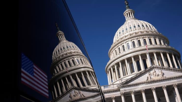 Toà nhà Quốc hội Mỹ ở Capitol Hill - Ảnh: Getty/CNBC.