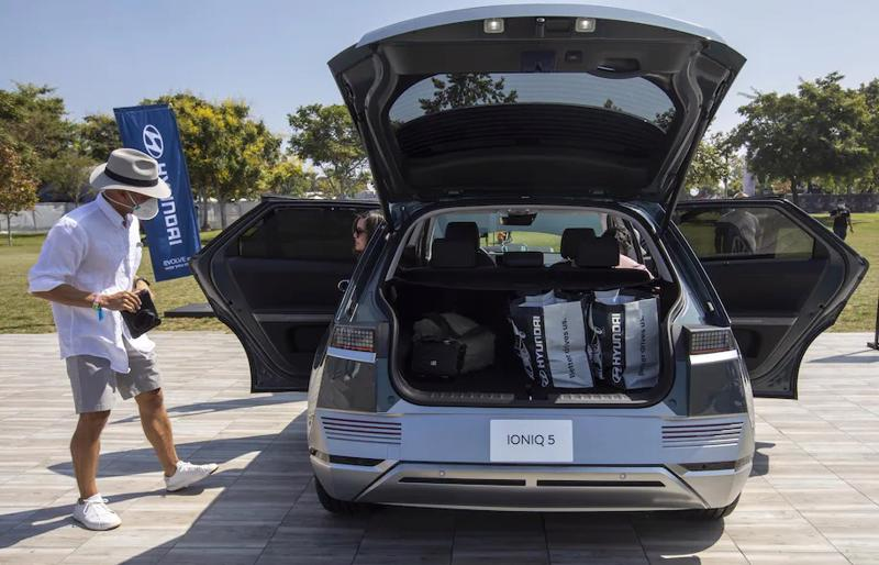 Xe điện Hyundai Ioniq 5. Ảnh: Bloomberg)