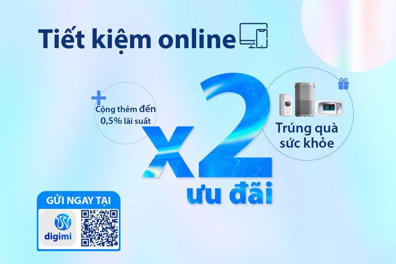 Ưu đãi nhân 2 khi gửi tiết kiệm online tại Ngân hàng Bản Việt.