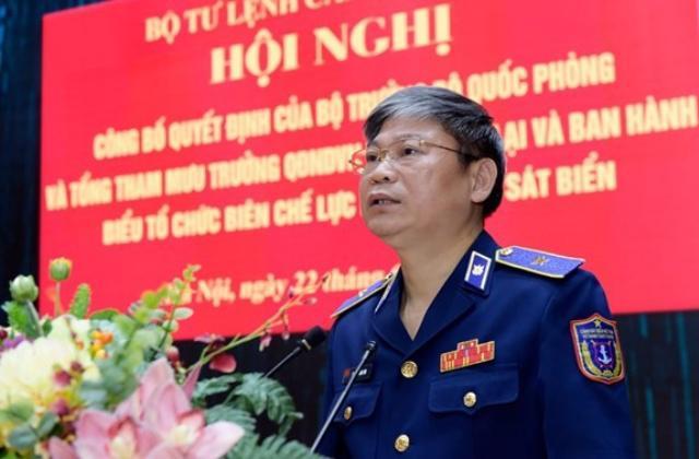 Trung tướng Nguyễn Văn Sơn, Phó bí thư Đảng ủy, Tư lệnh Cảnh sát biển Việt Nam - Ảnh: QDND