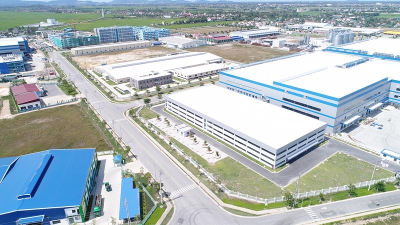 Một góc Khu công nghiệp VSIP Nghệ An.
