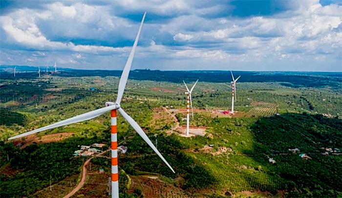 Nhà máy điện gió Ea Nam.