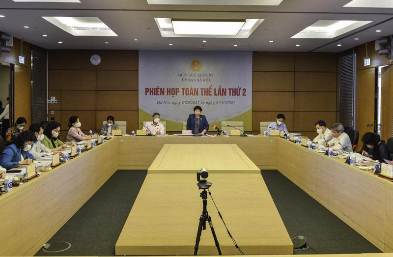 Phiên họp sáng 1/10 - Ảnh: Quochoi.vn