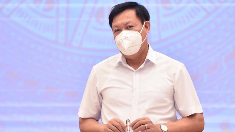 Thứ trưởng Bộ Y tế Đỗ Xuân Tuyên tại họp báo - Ảnh: VGP