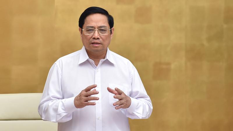 Thủ tướng phát biểu tại phiên họp - Ảnh: VGP
