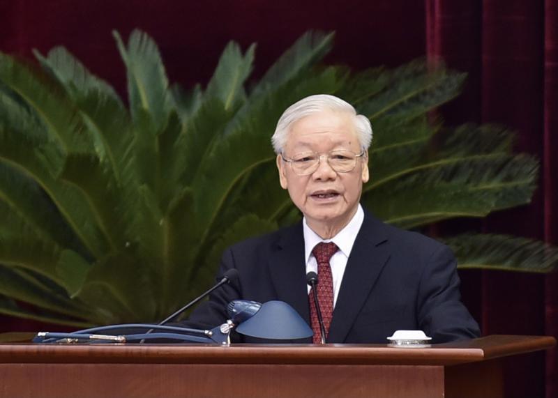 Tổng Bí thư Nguyễn Phú Trọng phát biểu khai mạc hội nghị - Ảnh: VGP