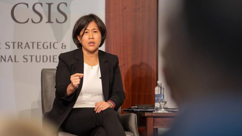 Đại diện Thương mại Mỹ Katherine Tai - Ảnh: CNBC
