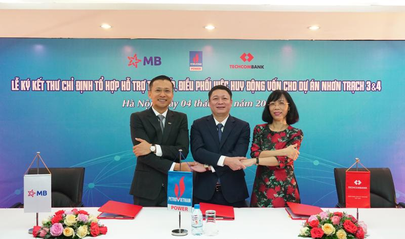 Techcombank, MB và PVPower được chỉ định thu xếp vốn cho dự án Nhơn Trạch 3 và Nhơn Trạch 4 của PVPower.