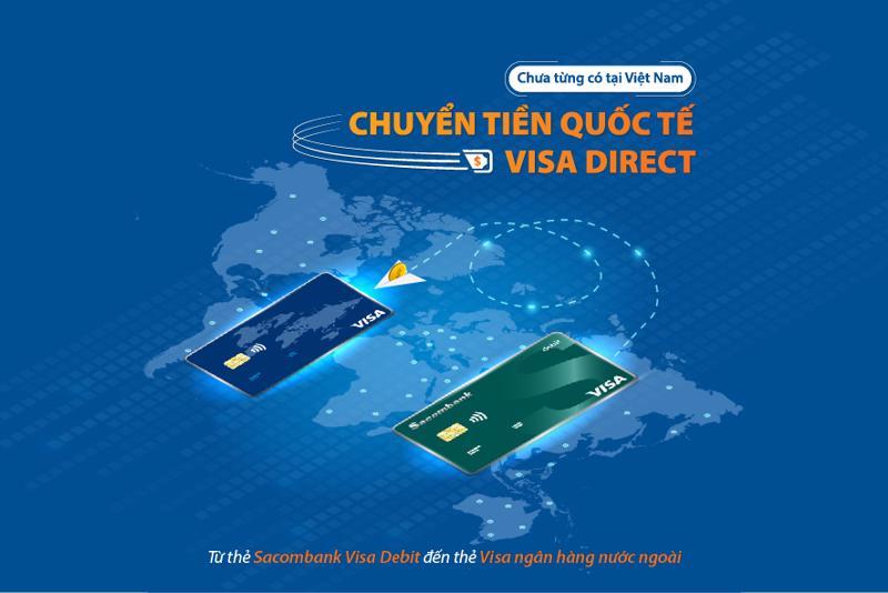 Khách hàng tại Việt Nam giờ đây có thể chuyển tiền nhanh từ thẻ Sacombank Visa Debit đến thẻ Visa phát hành tại nước ngoài.