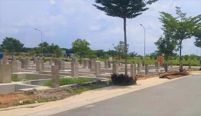 Một phần dự án Khu dân cư Nhơn Đức, huyện Nhà Bè, TP.HCM.