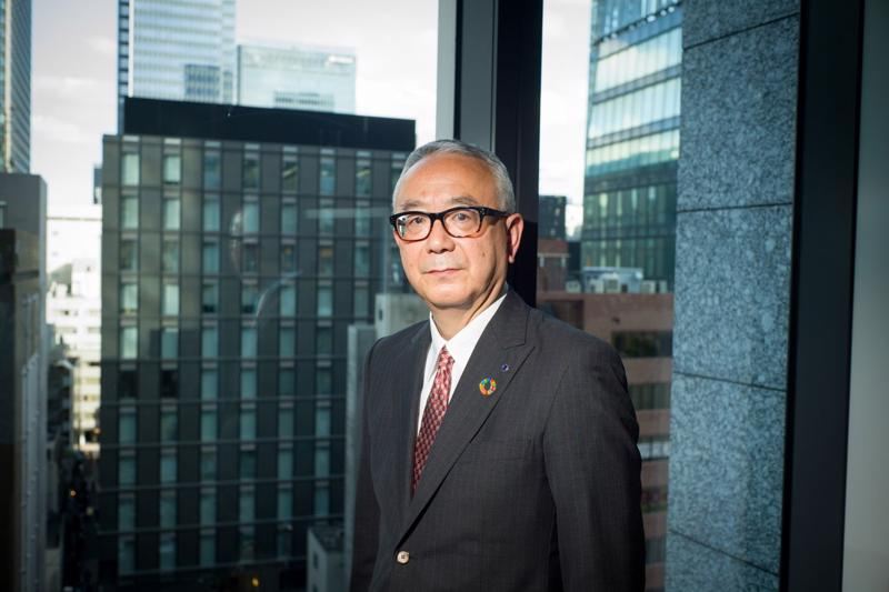 CEO Isao Teshiroghi của Shionogi - Ảnh: Bloomberg.