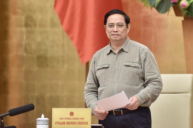 Thủ tướng Phạm Minh Chính chủ trì cuộc họp - Ảnh: VGP