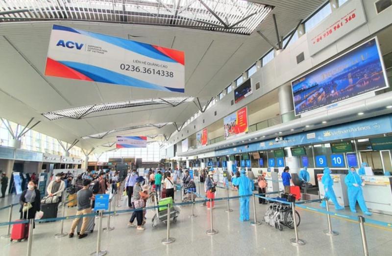Sân bay quốc tế Đà Nẵng bảo đảm an toàn, kiểm soát tốt công tác phòng chống dịch Covid-19 .
