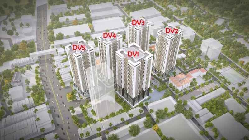 Phối cảnh toà căn hộ DV04 sắp ra mắt là trái tim của dự án Rose Town.