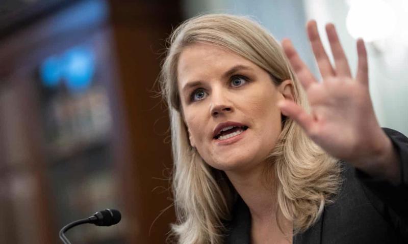 Tại phiên điều trần tại Thượng viện Mỹ diễn ra tuần trước, Frances Haugen, Cựu giám đốc dự án của Facebook đã tiết lộ những thông tin gây chấn động về Facebook. Ảnh The Guardian
