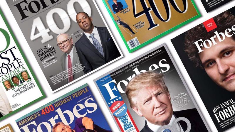 Tạp chí Forbes kỷ niệm 40 năm công bố danh sách Forbes 400 vào năm 2021 - Ảnh: Forbes