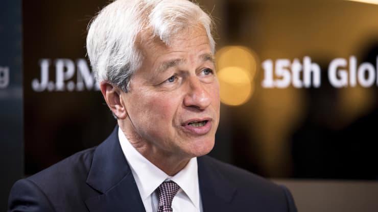 CEO Jamie Dimon của JPMorgan Chase - Ảnh: Getty/CNBC.