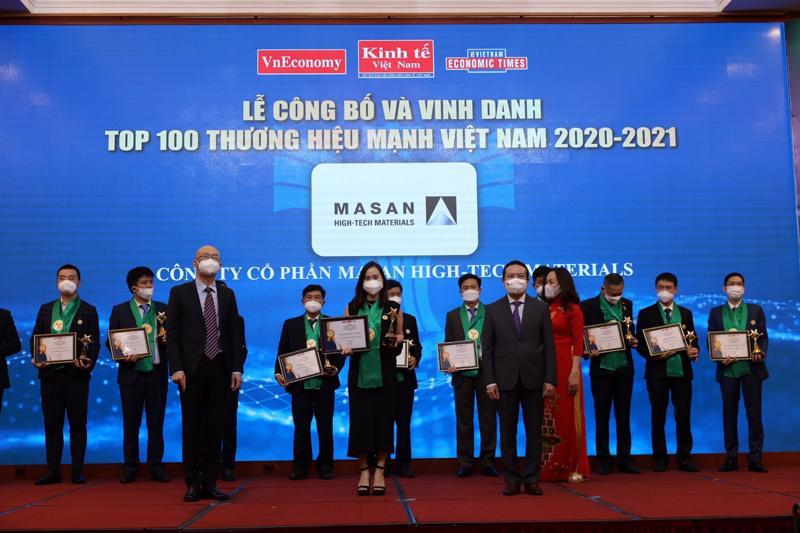 Masan High-Tech Materials trong Top 100 Thương hiệu Mạnh Việt Nam 2021.