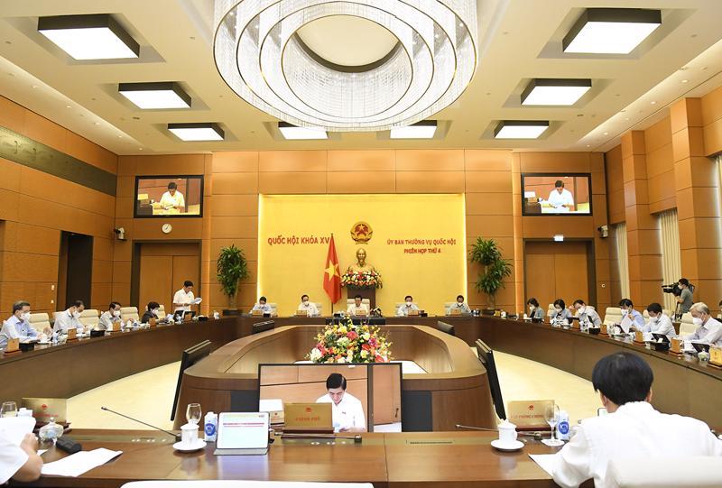 Toàn cảnh phiên họp của Ủy ban Thường vụ Quốc hội chiều 13/10 - Ảnh: Quochoi.vn
