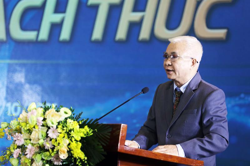 Tổng biên tập Tạp chí Kinh tế Việt Nam Chử Văn Lâm phát biểu khai mạc sự kiện - Ảnh: Giang Nam.