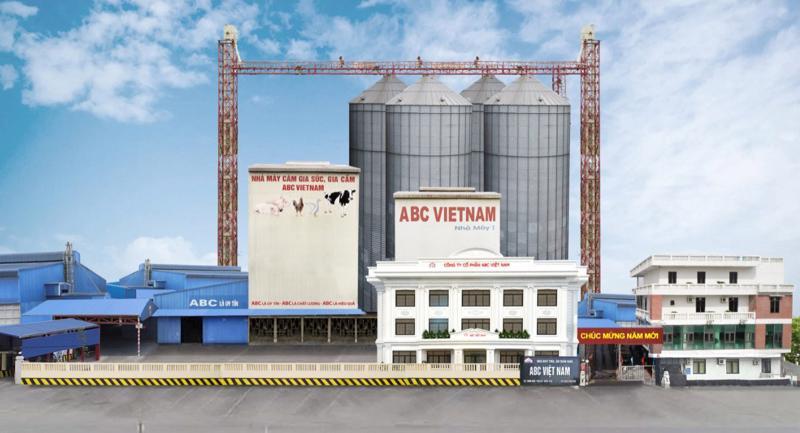 Nhà máy sản xuất thức ăn chăn nuôi ABC Việt Nam.