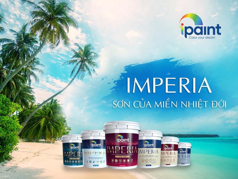 Sơn iPaint IMPERIA - dòng sơn cao cấp nhất của iPaint được tăng cường độ bám dính, độ che phủ, chống carbon hoá, ngăn ngừa nấm mốc để đảm bảo màng sơn luôn giữ được vẻ đẹp như mới.