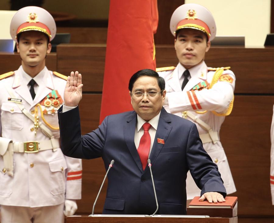 Chùm ảnh tân Thủ tướng Phạm Minh Chính tuyên thệ nhậm chức - Ảnh 1.