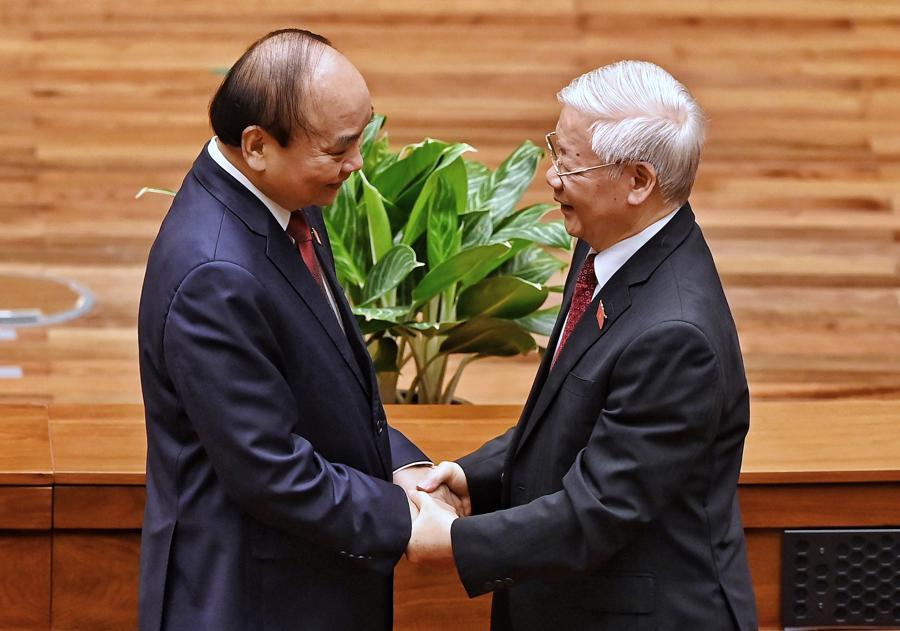 Chùm ảnh tân Chủ tịch nước Nguyễn Xuân Phúc tuyên thệ nhậm chức - Ảnh 5.