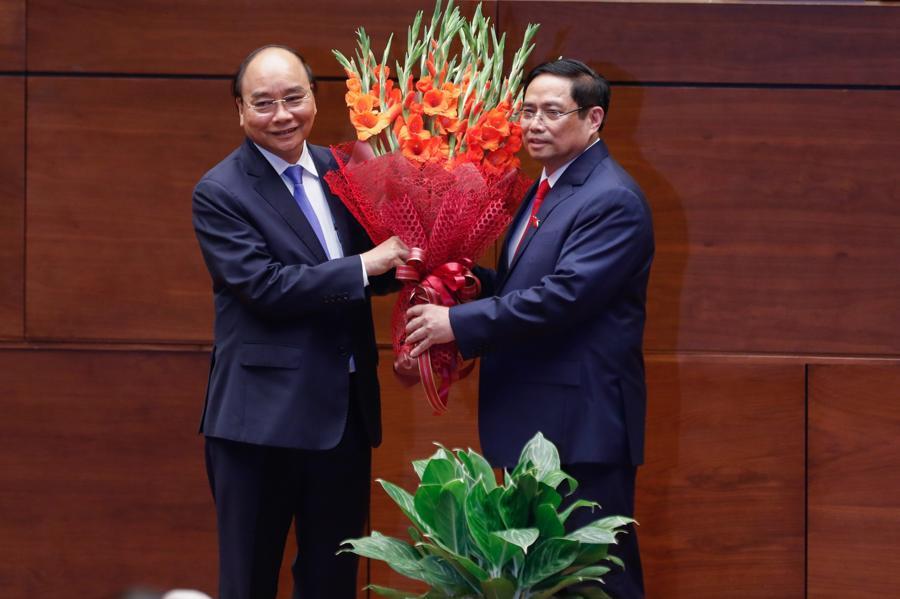 Chùm ảnh tân Thủ tướng Phạm Minh Chính tuyên thệ nhậm chức - Ảnh 5.
