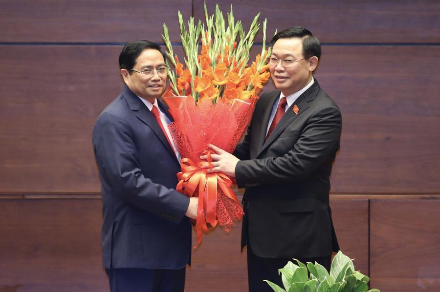 Chùm ảnh tân Thủ tướng Phạm Minh Chính tuyên thệ nhậm chức - Ảnh 6.