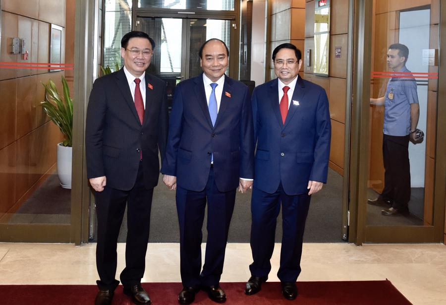 Chùm ảnh tân Thủ tướng Phạm Minh Chính tuyên thệ nhậm chức - Ảnh 7.
