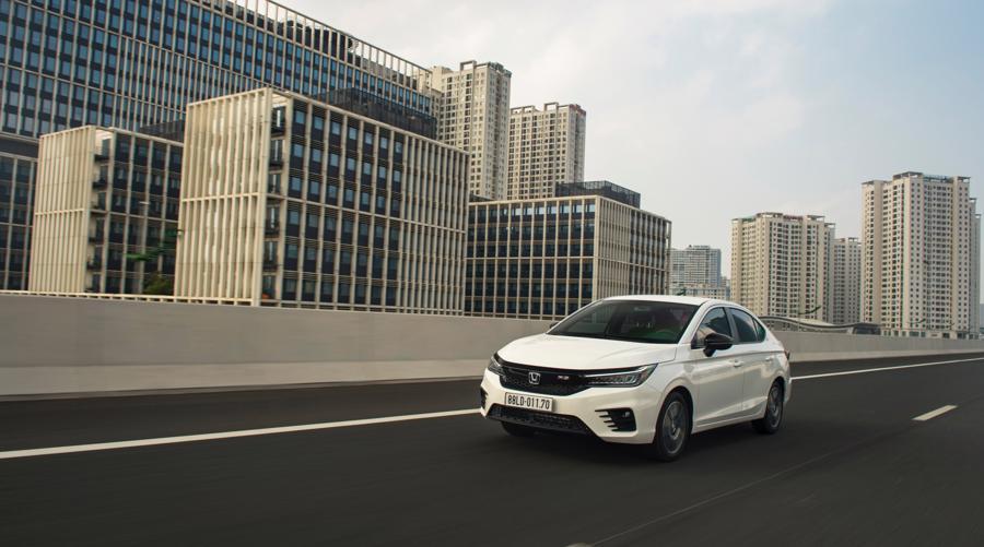 Honda City 2021 được đánh giá là mẫu xe trong tầm giá 600 triệu đồng phù hợp với giá đình trẻ.