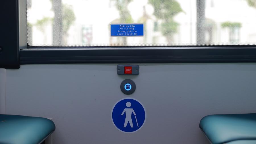 Xe có vị trí ghế ngồi ưu tiên dành cho người khuyết tật.