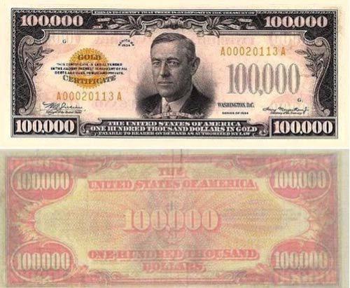 Đồng USD mệnh giá lớn nhất là bao nhiêu? 1