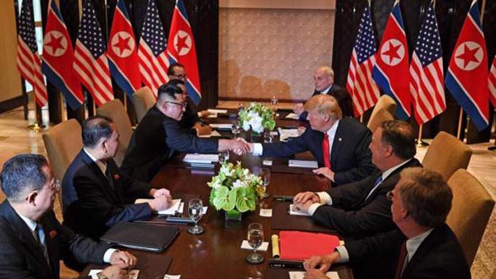 Ông Kim Jong Un chào ông Trump bằng tiếng Anh - Ảnh 1.