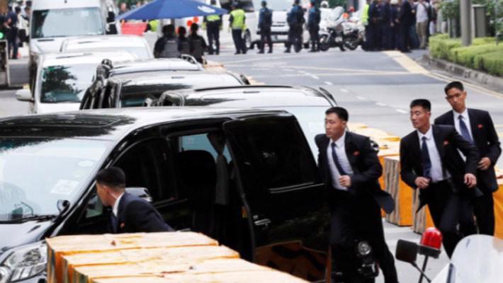 Những hình ảnh đầu tiên của ông Trump và ông Kim Jong Un ở Singapore - Ảnh 10.