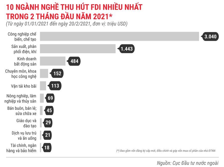 Những điểm nhấn về thu hút FDI trong tháng 2/2021 - Ảnh 6.