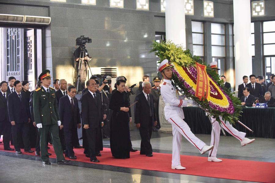Hình ảnh lễ viếng nguyên Tổng bí thư Đỗ Mười - Ảnh 6.