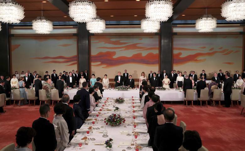 Nhật hoàng mở quốc yến chiêu đãi Tổng thống Trump - Ảnh 3.