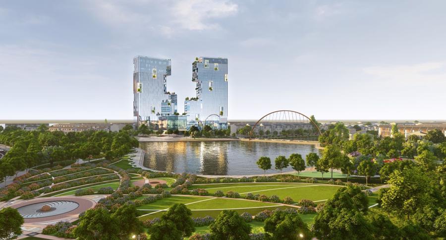 Ecopark Hải Dương triển khai tháp đôi cao nhất Hải Dương - Ảnh 2.