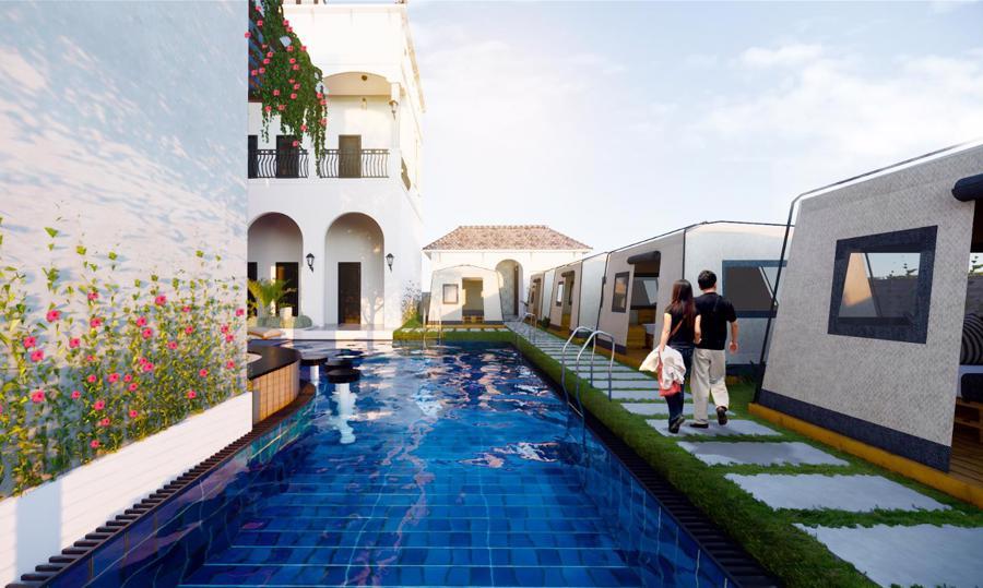 Xuất hiện biệt thự 11 phòng giá 7 tỷ trên đồi ngắm hoàng hôn đẹp bậc nhất Phan Thiết - Ảnh 4.