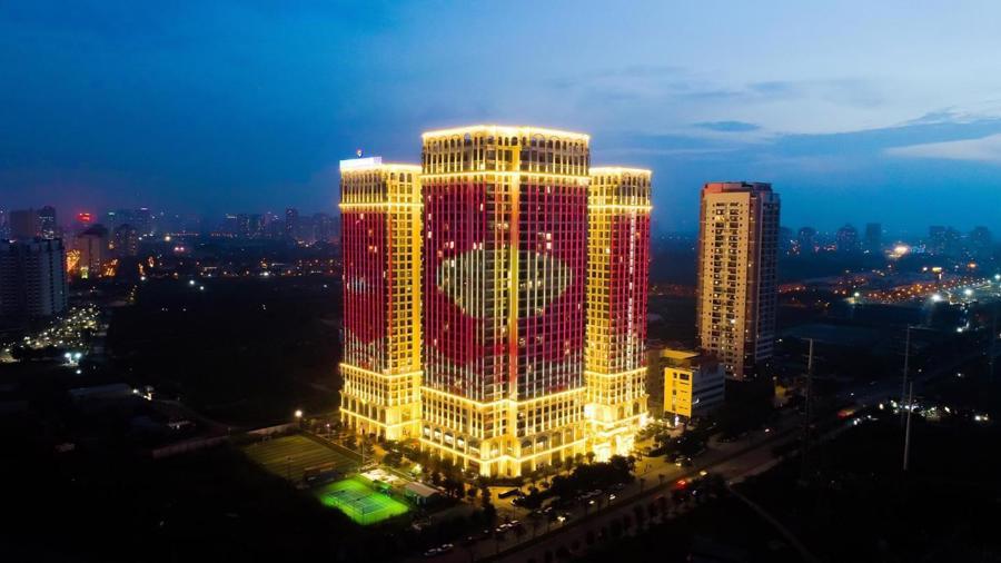 Chi 3 triệu USD lắp đèn LED, tòa tháp sắp bàn giao trở thành biểu tượng khu Nam Sài Gòn - Ảnh 4.