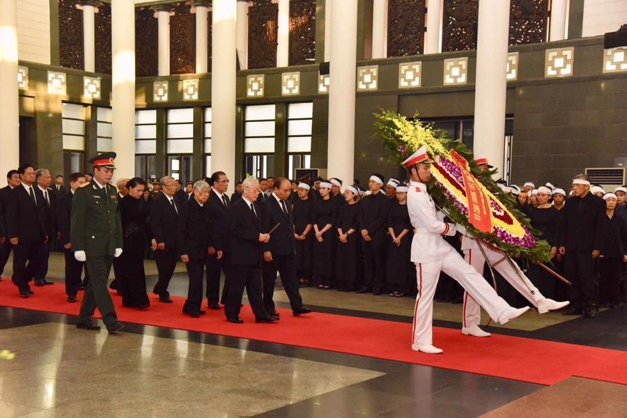 Hình ảnh lễ viếng nguyên Tổng bí thư Đỗ Mười - Ảnh 3.