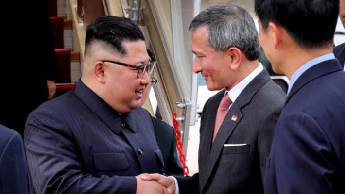 Những hình ảnh đầu tiên của ông Trump và ông Kim Jong Un ở Singapore - Ảnh 9.