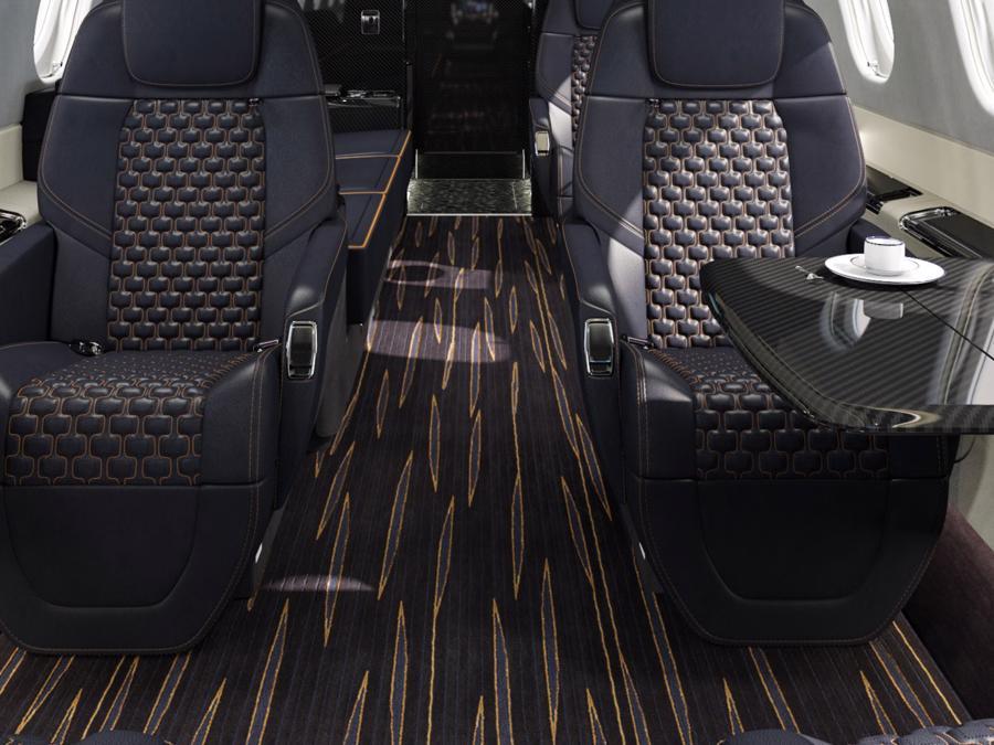 Máy bay cá nhân với nội thất lấy cảm hứng từ bãi biển Brazil - Ảnh 8.