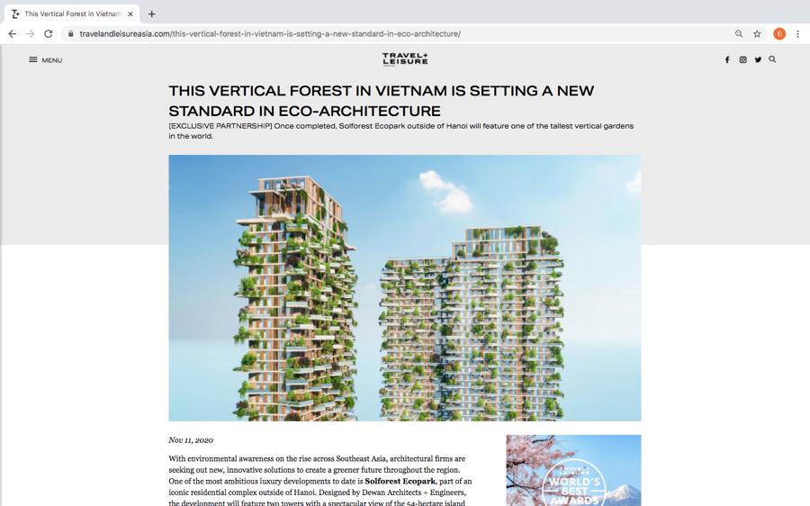 Hàng loạt báo quốc tế viết về toà tháp xanh Ecopark - Ảnh 1.