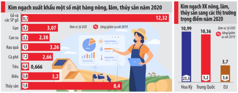 Bức tranh xuất khẩu ngành nông nghiệp năm 2020 - Ảnh 1.