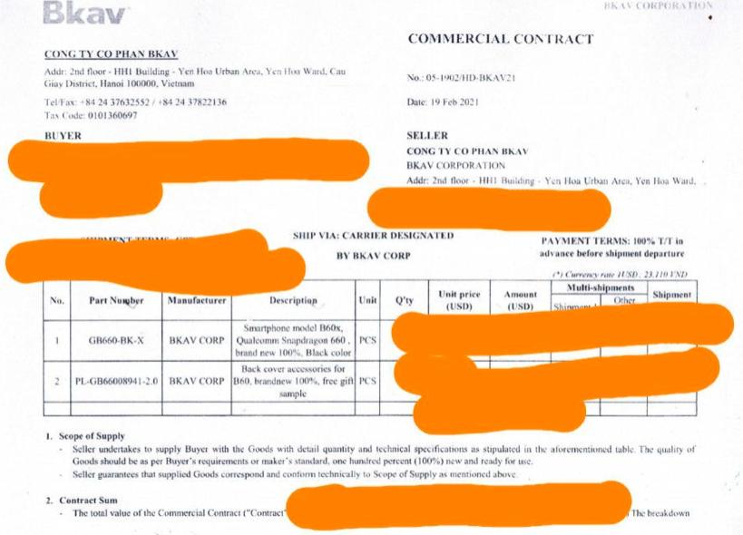 """Bkav xuất lô Bphone đầu tiên sang châu Âu, người dùng là các """"yếu nhân, VIP"""" - Ảnh 1."""