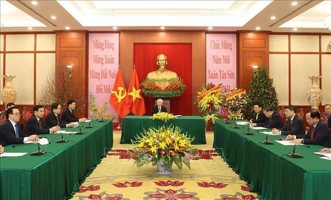 Tổng Bí thư, Chủ tịch nước Nguyễn Phú Trọng điện đàm với Thủ tướng Campuchia - Ảnh 1.