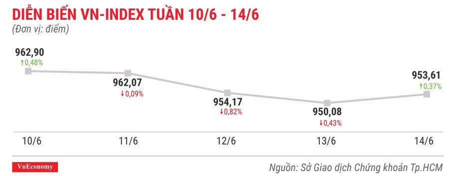 Top 10 cổ phiếu tăng/giảm mạnh nhất tuần 10-14/6 - Ảnh 1.